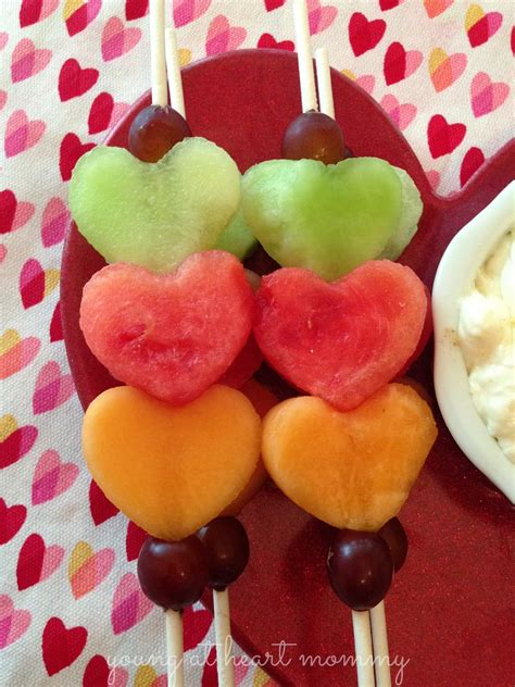 fruit kabobs valentines fruit kabobs fluffy cheese dip