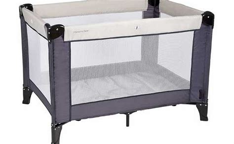 mamas and papas classic travel cot grey review