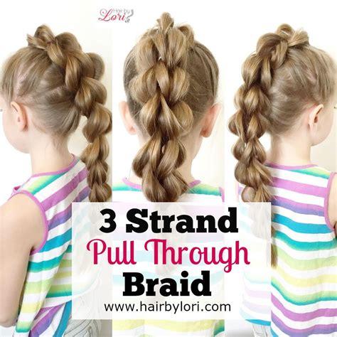 three strand braid or plait one how to tie knots 3 strand pull through braid elastic braid youtube