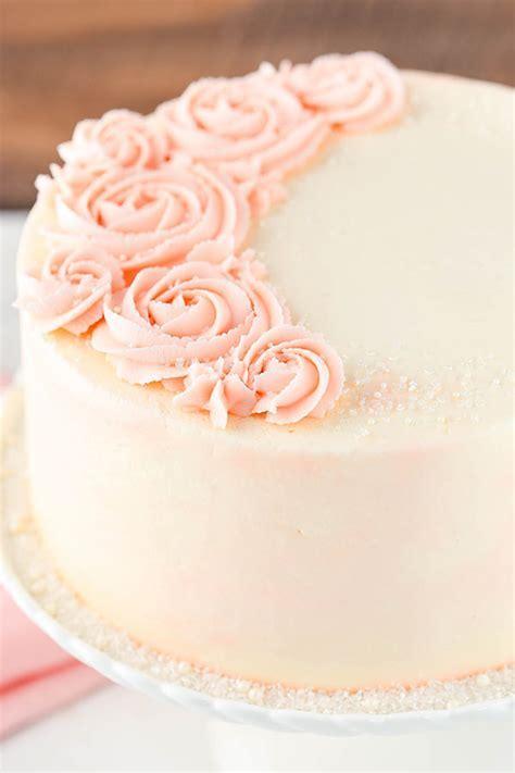 Rose Water Vanilla Cake Recipe   Easy & Elegant Vanilla