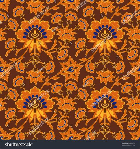 brown wallpaper pattern in vintage style with floral