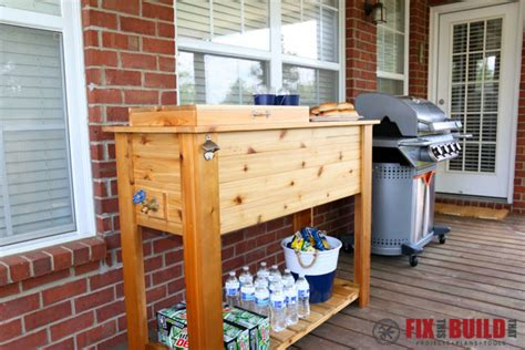patio drink cooler how to build a patio cooler and grill cart combo