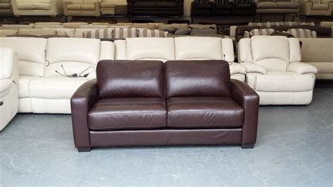 sofa warehouse birmingham ex display dante brown leather 2 5 seater sofa bed outside