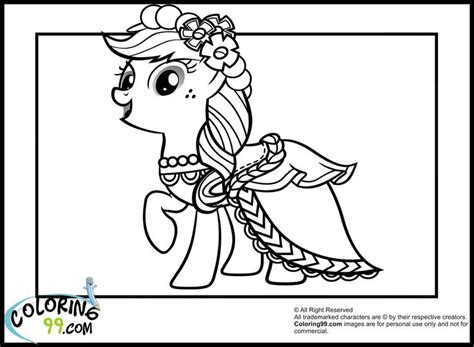 my little pony gala coloring pages apple jack with her gala dress coloriage pinterest