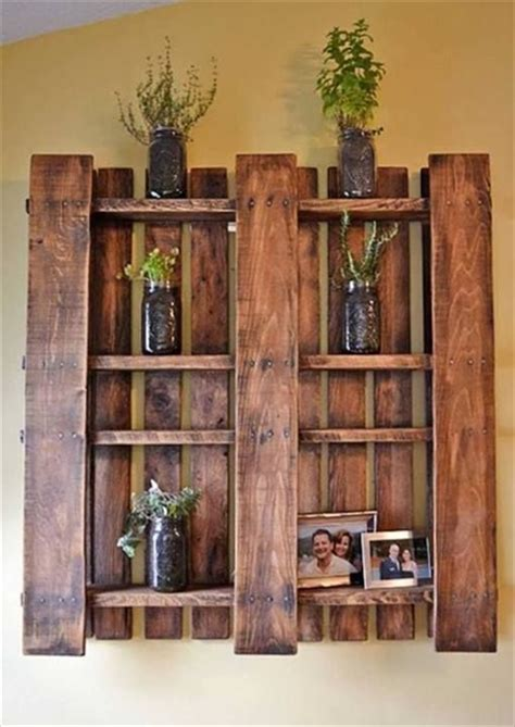 diy pallet shelves 20 easy diy shelves for the house the craftiest