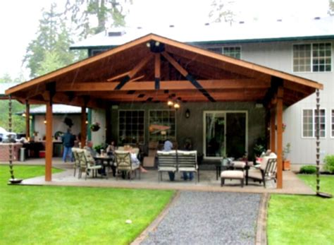 simple wood patio cover ideas house design and