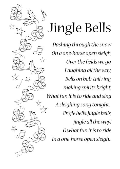 jingle bell swing lyrics words to jingle rock myideasbedroom com