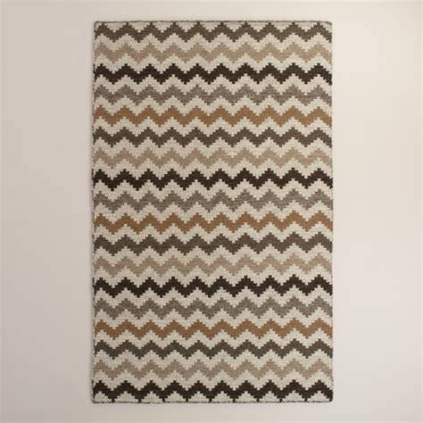 organic area rug organic chevron flatweave wool area rug world market