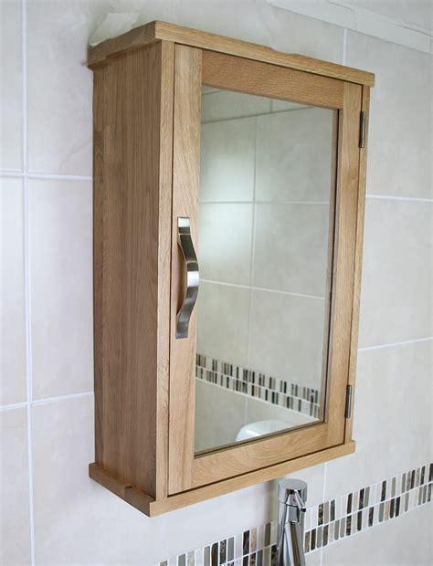 solid oak wall mounted bathroom cabinet