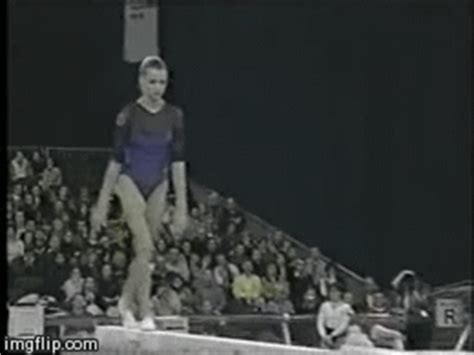 triple layout gymnastics in gif eight cheated triple twisting back layout dismount