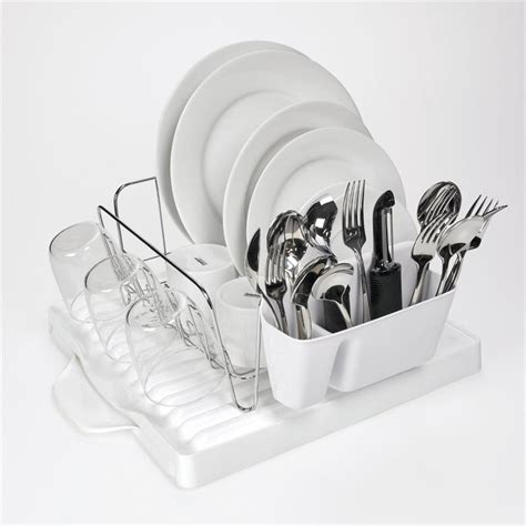 oxo grips 3 dish rack set with expandable drain