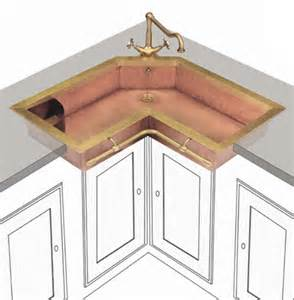corner kitchen sink ideas retro brass sink of true vintage material and looks digsdigs