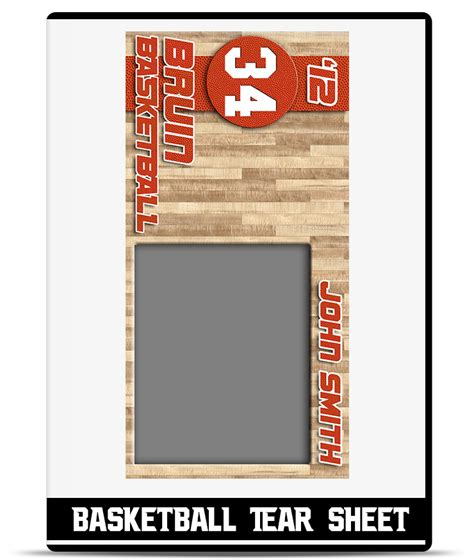 tear sheet template basketball tear sheet template teamtemplates