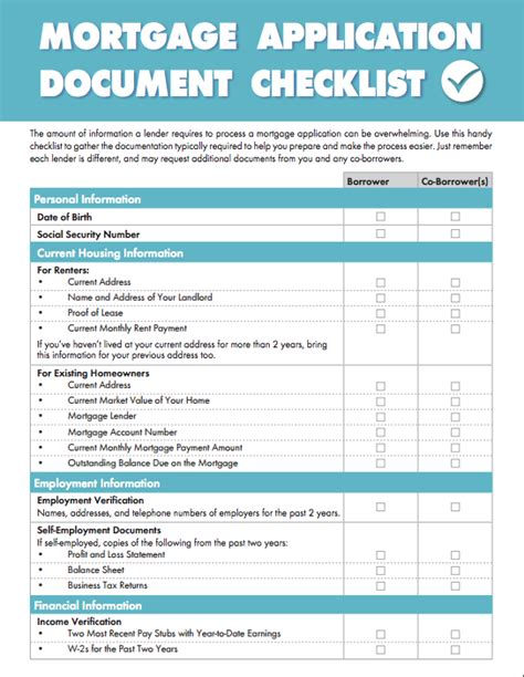 documents for housing loan document checklist achieve the dream