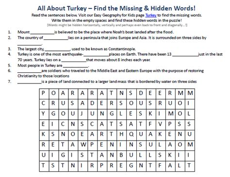 printable geography games image of turkey worksheet free printable geography word