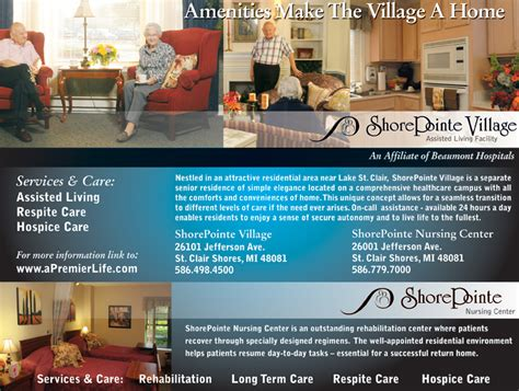 shorepointe assisted living facility downsizing