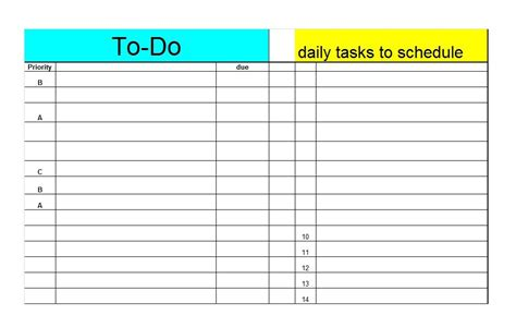 lists templates 50 printable to do list checklist templates excel word