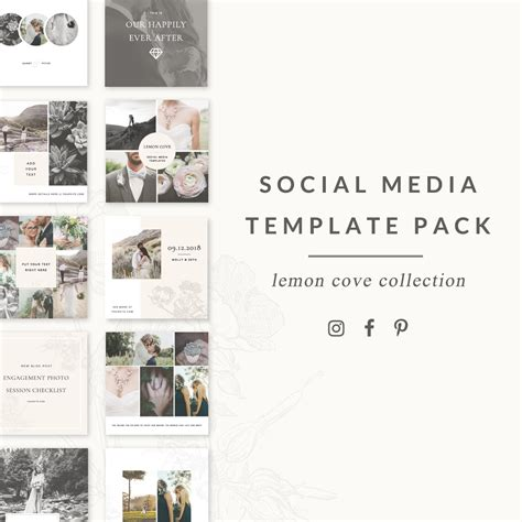 templates blogger social media social media templates lemon cove collection for