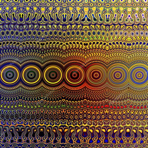 Unique Pattern psychedelic colourful pattern unique abstract artwork