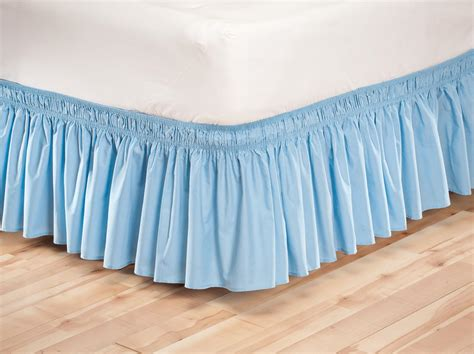 elastic bed skirts solid wrap around elastic bed skirt by oakridgetm