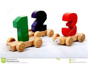 wooden numbers one two three stock photography image 4912252