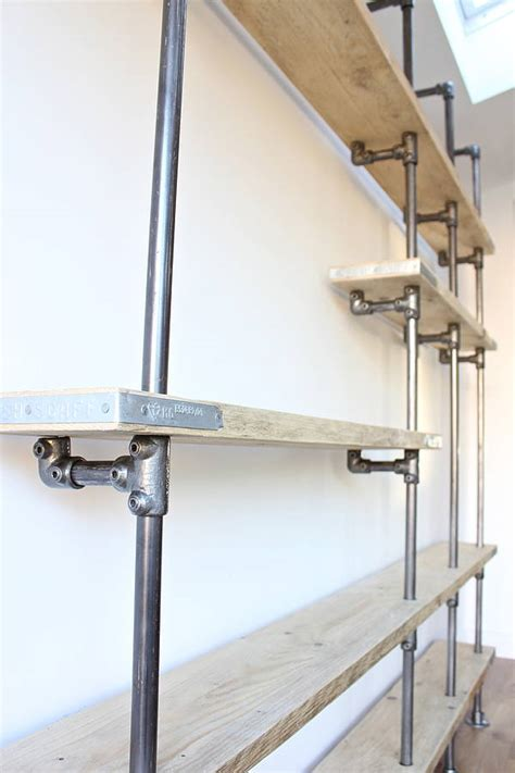 wesley scaffolding board and steel pipe shelving by