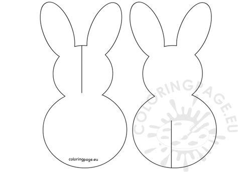 printable paper easter crafts 3d paper easter bunny printable coloring page