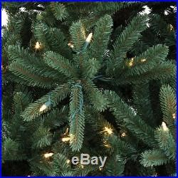 ge constant on xmas tree bbs santas best 7 5 ft pre lit just cut constant on light fraser fir tree
