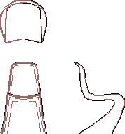 sedia autocad panton chair 2d dwg block for autocad designs cad