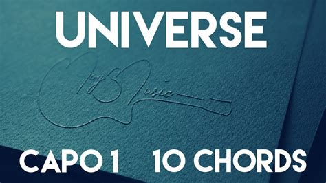 exo universe chord how to play universe by exo capo 1 10 chords guitar