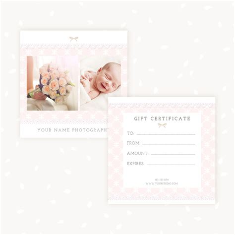 gift certificate photoshop template gift certificate template quot lace quot strawberry kit