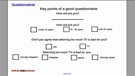 layout of a good questionnaire questionnaires youtube