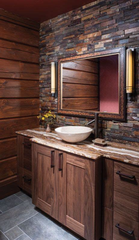 Dark Brown Cabinets Kitchen by 20 Gorgeous Rustic Bathroom Decor Ideas To Try At Home