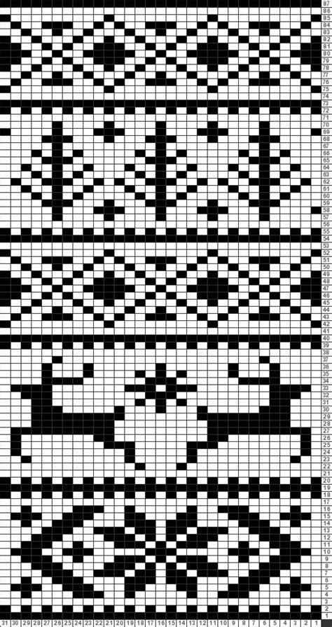 snowflake pattern knitting chart tricksy knitter charts reindeer with snowflakes reindeer