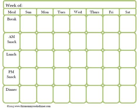 meal planning calendar template free best 25 meal planning templates ideas on menu