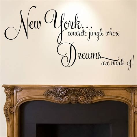 wall stickers new york details about new york wall sticker quote dreams home bedroom decal new york york and