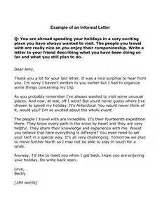 Letter In Exle Informal Informal Cover Letter Exle 28 Images How To Write An Informal Letter In A Friend Informal
