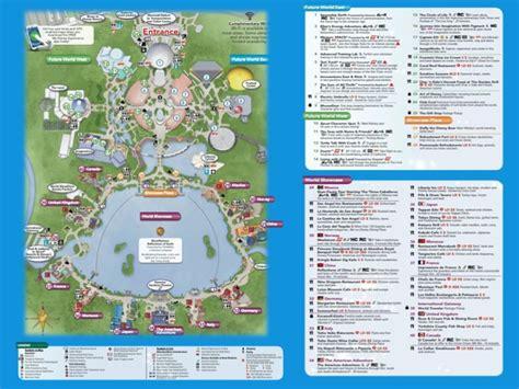 printable maps of disney world epcot map