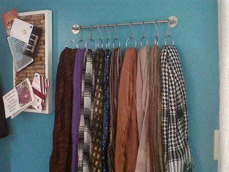 how to put a curtain scarf up 5 creative ways to hang scarves by george organizing