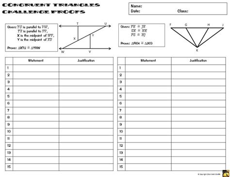 Simple Geometry Proofs Worksheets by Triangle Proofs Worksheet With Answers Quiz Worksheet