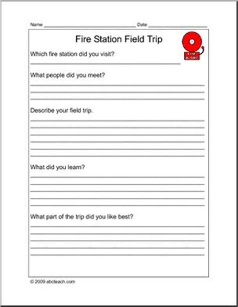 Thank You Letter Template Field Trip report form field trip station elementary abcteach