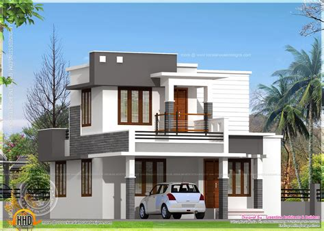 superior Exterior Designs For Small Houses #9: flat-roof-house-plans-designs-l-9aefcf65fd921022.jpg