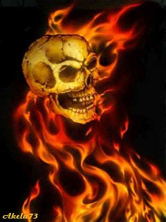 burning skulls animated gifs skull airbrush skull