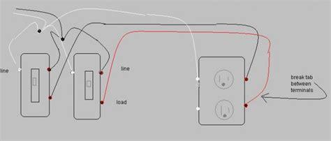 wiring spst lighted rocker switches to split duplex