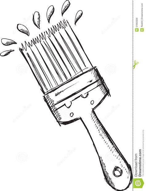 doodle paint draw doodle paint brush vector stock vector image 51902329