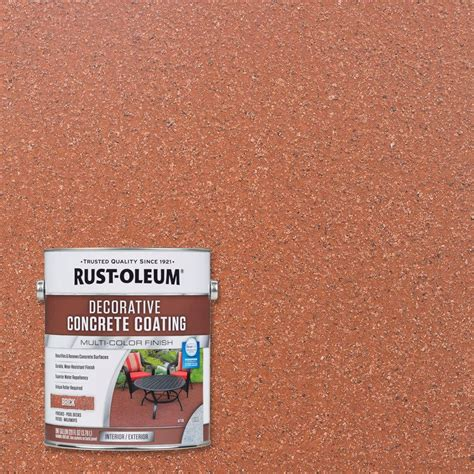 home depot paint for concrete rust oleum 1 gal brick decorative concrete coating 2