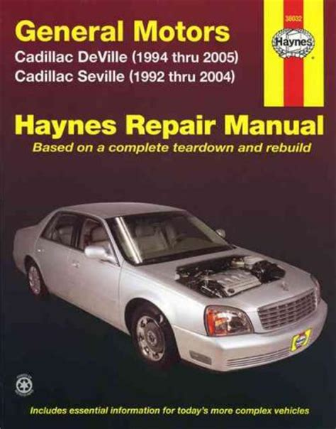 electric and cars manual 1997 cadillac seville spare parts catalogs general motors cadillac deville seville 1992 2005 sagin workshop car manuals repair books