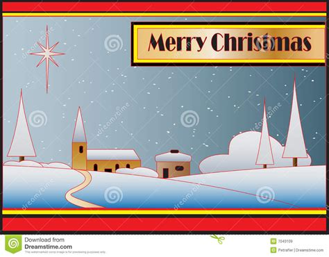 art deco christmas card royalty  stock images image