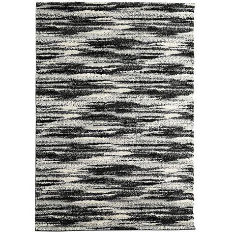 10 Ft Contemporary Rugs - lanart rug scandinavia black 8 ft x 10 ft indoor