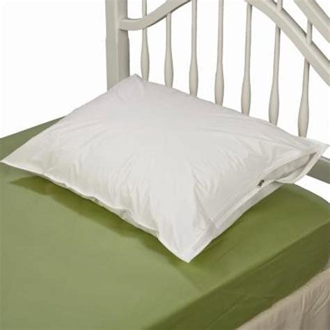zipper bed 2 white hotel pillow plastic cover case waterproof zipper